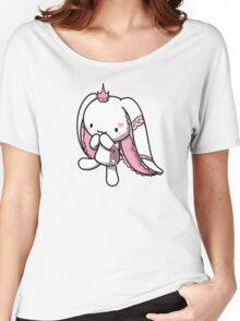 Princess of Hearts White Rabbit Women's Relaxed Fit T-Shirt
