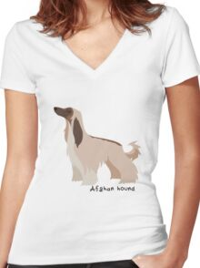 Afghan hound Women's Fitted V-Neck T-Shirt