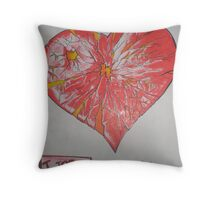 I Too have a heart Throw Pillow