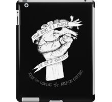 Your Heart Is A Muscle Reverse  iPad Case/Skin