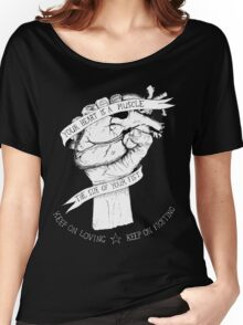 Your Heart Is A Muscle Reverse  Women's Relaxed Fit T-Shirt