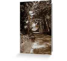 Narrow Bridge Greeting Card