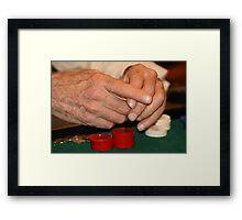 Poker hands Framed Print