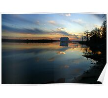 BOAT HOUSE AT SUNSET Poster