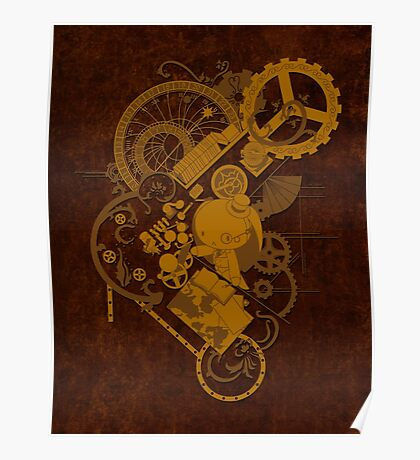 Steampunk Bunny Poster