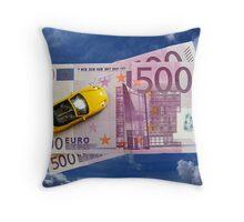 1000 Euro Throw Pillow