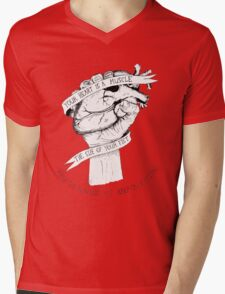 Your Heart Is A Muscle Mens V-Neck T-Shirt