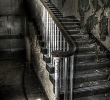 Stairs in the shadows by Richard Shepherd