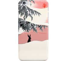 Quiet afternoon for the black hare iPhone Case/Skin