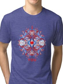 I Love You Fractal Tee Tri-blend T-Shirt