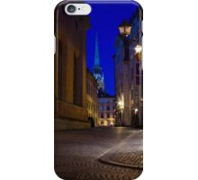 Night in the Old Town iPhone Case/Skin