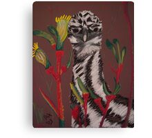 emu with kangaroo paw Canvas Print