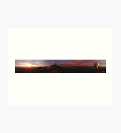 Space Telescope - Fantastic Panoramic shot of telescopes searching space Art Print