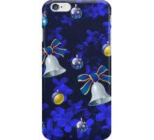 Four Bells Christmas Card in Blue iPhone Case/Skin