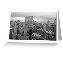Gray Day in January - New York, NY Greeting Card