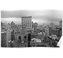 Gray Day in January - New York, NY Poster