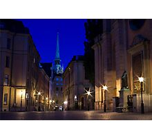 Gamla Stan Stockholm by Night Photographic Print