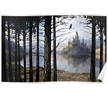 Hogwarts Through the Trees Poster