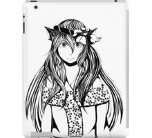 Neko in Flower Crown iPad Case/Skin