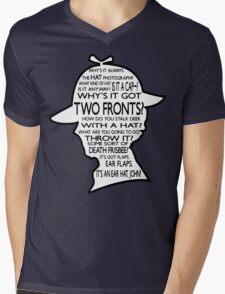 Sherlock's Hat Rant - Dark Mens V-Neck T-Shirt