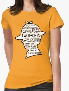 Sherlock's Hat Rant - Dark Womens Fitted T-Shirt