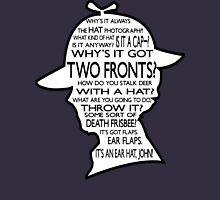 Sherlock's Hat Rant - Dark Womens Fitted T-Shirt
