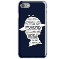 Sherlock's Hat Rant - Dark iPhone Case/Skin