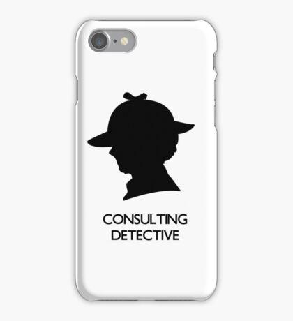 Consulting Detective Sherlock Shirt - Light iPhone Case/Skin