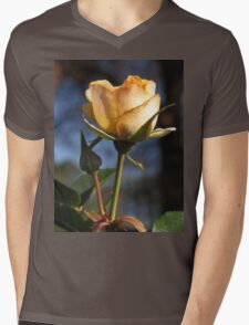 A Light Peach Colored, Crepe Textured Rose  (1430118783VA) T-Shirt