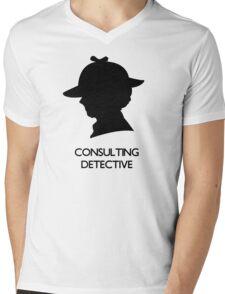 Consulting Detective Sherlock Shirt - Light Mens V-Neck T-Shirt