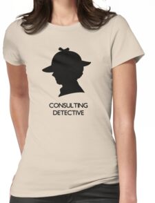 Consulting Detective Sherlock Shirt - Light Womens Fitted T-Shirt