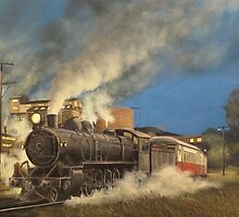 Night Train at Boyer, Tasmania by Michael Bessell