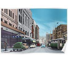 GPO Tram Terminus, Hobart, (c.1957) Poster