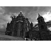 Uspenski Cathedral on a cloudy day in Helsinki Photographic Print