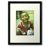 my  happy baby Framed Print