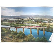 Crossing The Derwent River Poster