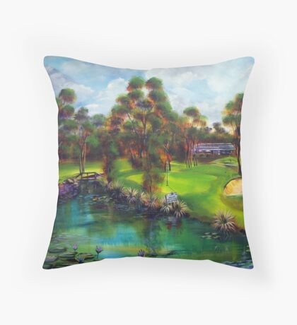 Agnes Water Golf Course - the drinkin' hole Throw Pillow