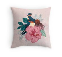 Barn Swallows Throw Pillow