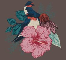 Barn Swallows One Piece - Short Sleeve