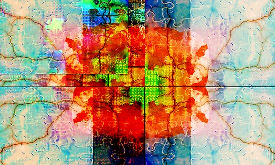 Binary Flower of Life by Cassie Sitnik