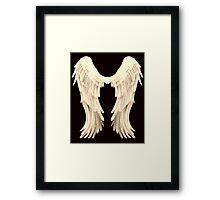 Angel Wings Ivory Framed Print