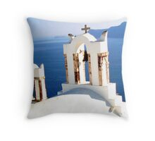 Azure Calm Throw Pillow
