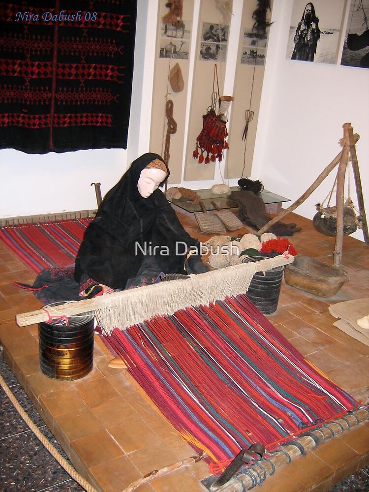At the Jo Alon's center..The Bedouin Weaver by Nira Dabush