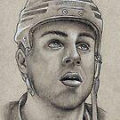 Gregory Campbell - Boston Bruins Hockey Portrait by HeatherRose