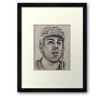 Gregory Campbell - Boston Bruins Hockey Portrait Framed Print