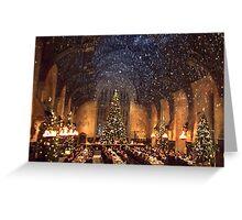 Hogwarts at Christmas - Wide Greeting Card