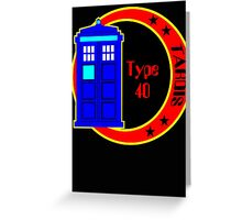 TARDIS logo Greeting Card