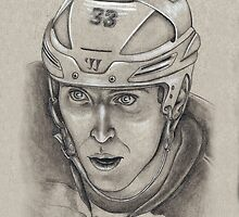 Zdeno Chara - Boston Bruins Hockey Portrait by HeatherRose