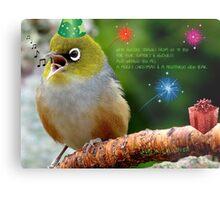 Merry Christmas Bubbler's! - Silver-Eye - NZ Metal Print