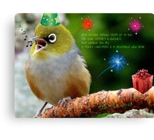 Merry Christmas Bubbler's! - Silver-Eye - NZ Canvas Print